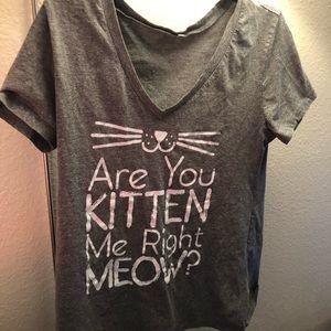 Cat pun shirt